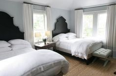 If you've got the space, I love the idea of two queen beds in one room. Either for master or guest.