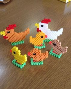 Chicken perler beads by m627ame: