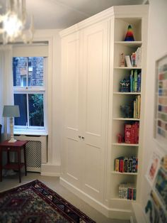 Image result for how to build a fitted corner cupboard in an alcove