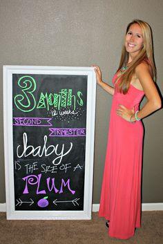 all things katie marie: Pregnancy Chalkboard Tracker