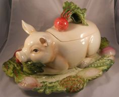 French Market Pig Soup Tureen--I've had the exact tureen for years and it's on my dining room table right now!
