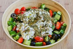 Effie's Easy and Amazing Cottage Cheese Salad with Za'atar was one of those must-make-again recipes from the first bite and this tasty salad low-glycemic, vegetarian, and gluten-free. Healthy Snacks, Healthy Recipes, Ketogenic Recipes, Eat Healthy, Healthy Living, Cottage Cheese Salad, Dressing For Fruit Salad, Cold Lunches, Beach Meals