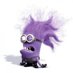 Have I told you guys that I believe on some days each of us experience the purple minion inside us? We all go nuts sometimes!