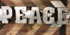 Peace Metal Sign | Peace Sign | Display Sign | Wall Decor | Christmas Sign | Metal Sign | Galvanized Letters| Christmas by KaiChicOC on Etsy https://www.etsy.com/listing/476272710/peace-metal-sign-peace-sign-display-sign