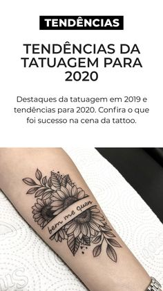 tattoo highlights in 2019 and trends for 2020 Check out what was successful in the tattoo scene in 2019 and know what to expect Forearm Flower Tattoo, Small Forearm Tattoos, Wrist Tattoos For Women, Arm Band Tattoo, Small Tattoos, Pretty Tattoos, Love Tattoos, Unique Tattoos, Beautiful Tattoos