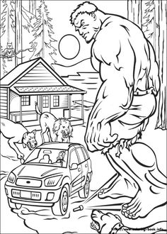 Hulk Coloring Page 8 Is A From BookLet Your Children Express Their Imagination When They Color The Will