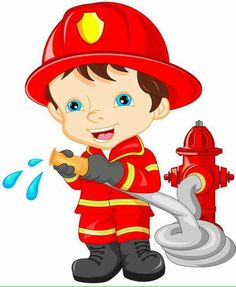 Illustration Enfant New online shop for fire brigade toys. Firefighter Clipart, Art For Kids, Crafts For Kids, Community Helpers Preschool, Flashcards For Kids, Fireman Party, School Frame, Cartoon Kids, Fabric Painting