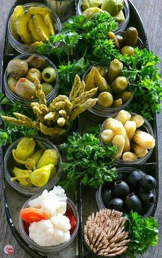 Do you remember having relish trays at parties? Check out my modern twist on an old-fashioned relish tray and watch it become your new favorite finger food! Olive Recipes Appetizers, Yummy Appetizers, Appetizers For Party, Easter Appetizers, Snack Platter, Dessert Platter, Pickled Olives, Relish Trays, Sweets