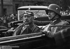January 22nd, 1933: Oskar Hindenburg, son of the President, and Otto Meissner, Chief of the Presidential Office, met Hitler. Hindenburg on his 85th Birthday with his Son Oskar (October 2, 1932)