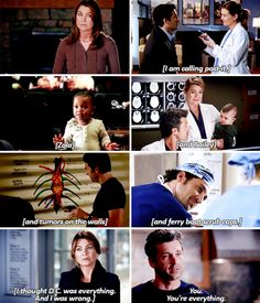 """""""I am calling post-it. Zola and Bailey and tumors on the walls and ferry boat scrub caps. I thought D.C. was everything. And I was wrong. You... You. You're everything."""""""