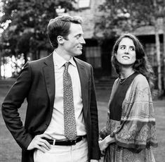 Tatiana Schlossberg with her husband, George Moran.