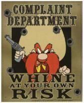 Yosemite Sam Complaint Department Funny Metal Sign - 1