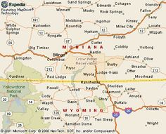 Crow Indian Reservation map