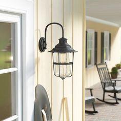 Roessler Matte Black 1 -Bulb H Outdoor Hanging Lantern Outdoor Hanging Lanterns, Outdoor Barn Lighting, Outdoor Ceiling Fans, Outdoor Sconces, Outdoor Wall Lantern, Porch Lighting, Wall Sconce Lighting, Outdoor Walls, Nautical Design