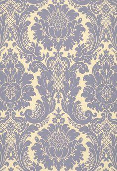Fabric   Harmon Manor II in Blue   Schumacher