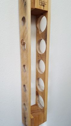 Reclaimed Pallet Wine Rack Wall Mounted by BlueFoxFurnishing.- Reclaimed Pallet Wine Rack Wall Mounted by BlueFoxFurnishings - Woodworking Furniture, Pallet Furniture, Furniture Making, Woodworking Plans, Woodworking Projects, Woodworking Joints, Woodworking Patterns, Woodworking Techniques, Palette Wine Rack
