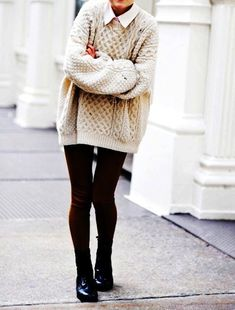 Cable Knit Sweater on the Interior Collective