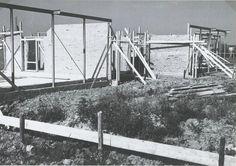 Kleuterschool bij de toren in aanbouw begin 1970