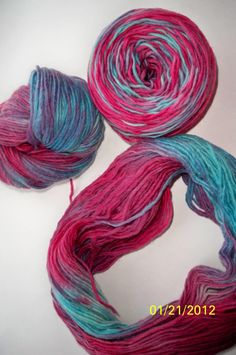 Berry Smoothie Handspun Handpainted Yarn by debrobinson on Etsy, $19.00