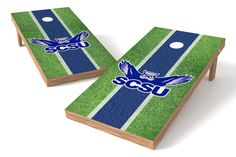 Southern Connecticut State Owls Cornhole Board Set - Field (w/Bluetooth Speakers)