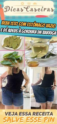 Beba isto com estômago vazio durante 4 dias e dê adeus à gordura da barriga #emagrecer #mulher #gordura #barriga