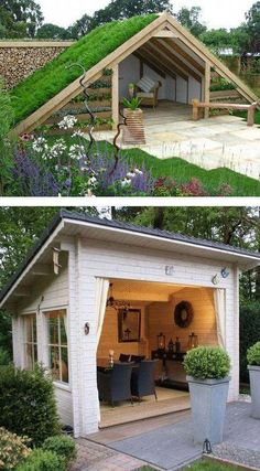 81 incredible and inspiring backyard storage shed design and decor ideas 65 « Diy Best Garden Deko Small Patio Ideas On A Budget, Garden Design Ideas On A Budget, Budget Patio, Backyard Gazebo, Backyard Patio Designs, Backyard Landscaping, Backyard Storage Sheds, Backyard Sheds, Modern Gazebo