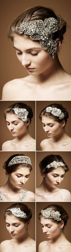 Perhaps a little something extra to add to your attire on your big day. Not sure if I would wear them, but I love the classic, Victorian, elegant, fashion heair pieces.