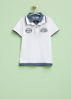 556c2de999 Buy online Polo shirt with faux layer and print on OVS. Find the best  offers for the category undefined of the collection