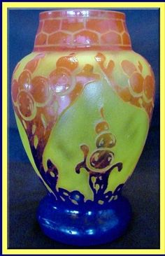 SCHNEIDER LE VERRE FRANCAIS CAMEO GLASS VASE Sales price without tax: $2,500.00