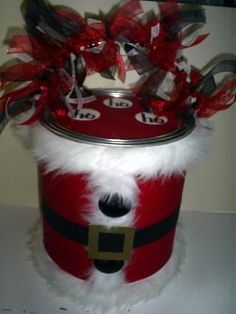 Santa paint can
