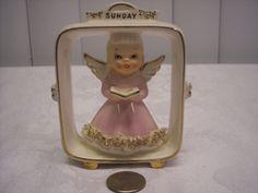 1955 Geo. Z. Lefton SUNDAY ANGEL Wall PLAQUE Figurine Japan   eBay