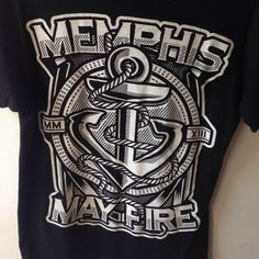 Memphis May Fire  Memphis May Fire black and white t-shirt. Extra small, worn one time. From Hot Topic ⚓️ Hot Topic Tops