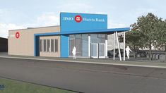 BMO Harris to build new bank branch in Sherman Park, old facility to be restored - Milwaukee Business Journal Bank Branding, Retail Architecture, Bank Branch, Business Journal, Milwaukee, Restoration, Buildings, Park, Google Search