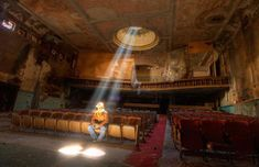 Sattler Theater [Buffalo, New York] This amazing shot of the abandoned Sattler Theater in Buffalo, New York is so surreal. Apparently, this theater, which was built back in 1915, is now subject to a renovation process that will eventually see it fully restored to its original beauty at long last.