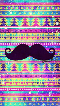 Tribal moustache galaxy wallpaper I created for the app CocoPPa.