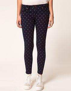 Polka dot Skinny Crop Jean