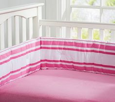 Chamois Crib Fitted Sheet bright pink, $29, (2)