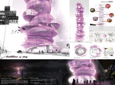 [A3N] : Night Club Hotel in Hong Kong ( Honorable Mention 08 : Bubble Of Joy ) / Caramel Architekten ZT GmbH ( Australia )