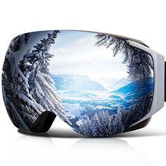YAKAON Y Series Ski Goggles Snowboard Frameless Spherical Protection Anti-fog Detachable REVO Mirror Lens for Men and Women Skiing Snowboarding Best Ski Goggles, Snowboard Goggles, Snowboard Wedding, Ski Gear, Skateboard Design, Snow Skiing, Winter Activities, The Great Outdoors, Oakley Sunglasses