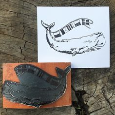 Art is my favorite things to turn into #rubberstamps because they are freakin awesome! This whale was created by Kevin at @artwork_by_eager and the detail is wonderful. We worked very hard to get this just as Kevin felt it needed to be and I love it. Do you have a drawing that you'd like made into a #rubberstamp ? I can do that. Send me an etsy convo.   #yellowbess #rubberstamping #woodenstamp #rockerstamps #customstamp #customrubberstamp #woodenrubberstamp #etsy #etsyshop #etsyseller…