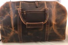 New Mens Vintage Brown Leather Duffel Duffle Carry On Travel Weekender Overnight   http://www.ebay.com/itm/-/152414333883?ssPageName=STRK:MESE:IT