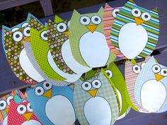 Things With Wings: paper owls for the preschool classroom