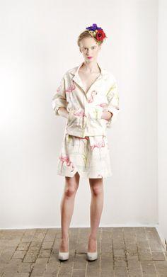Matchy matchy - Short Jacket Flamingo by SainteCourtisane on Etsy, €180.00