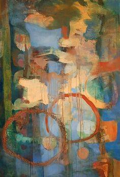 Lisa Peace Blue Medusa Painting