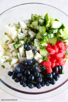 Watermelon Salad with Cucumber, Jicama, and a Coconut Lime Dressing