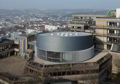 Bergische University library reading room in Wuppertal (Germany) by Susanne Schamp & richard Schmalöer – Schamp & Schmalöer - Dipl.-ing. Architekten Stadtplaner BDA  #Architecture #Project #VMZINC #Zinc #Library #Germany #Deutschland #Facade #Façade #University #PublicBuilding