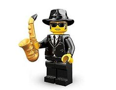 TAKARA TOMY LEGO Minifigures Series 11 Saxophone Player Blues Brother COLLECTIBLE Figure music do the talking