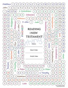LDS Gospel Freebie - New Testament Reading Chart! For those of you who may be reading the New Testament or plan to read it in the future, today we have a free reading chart brought to you by Scripture Reading Chart, Scripture Study, Family Scripture, Scripture Journal, Kids Bible, Scripture Quotes, Reading Charts, Free Reading, Reading Tracker