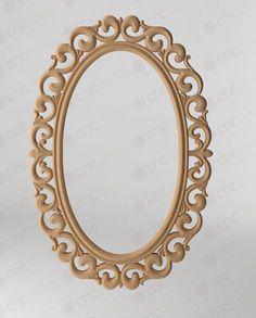 CNC KESİM DEKORATİF AYNA ÇERÇEVESİ Cnc Cutting Decorative Mirror Frame www.cncahsap.net