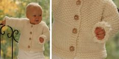This little Eskimo knitted baby cardigan is just delightful and it will keep baby nice and snug. The knitted baby jacket comes in 5 different sizes ...